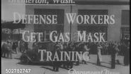 Navy Type N-C Gas Mask, Model A-1 (Defense Workers Get Gas Mask Training, Paramount News)