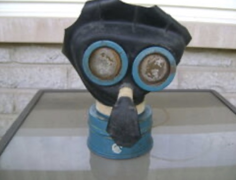 Black (Canadian?) Mickey Mouse Gas Mask