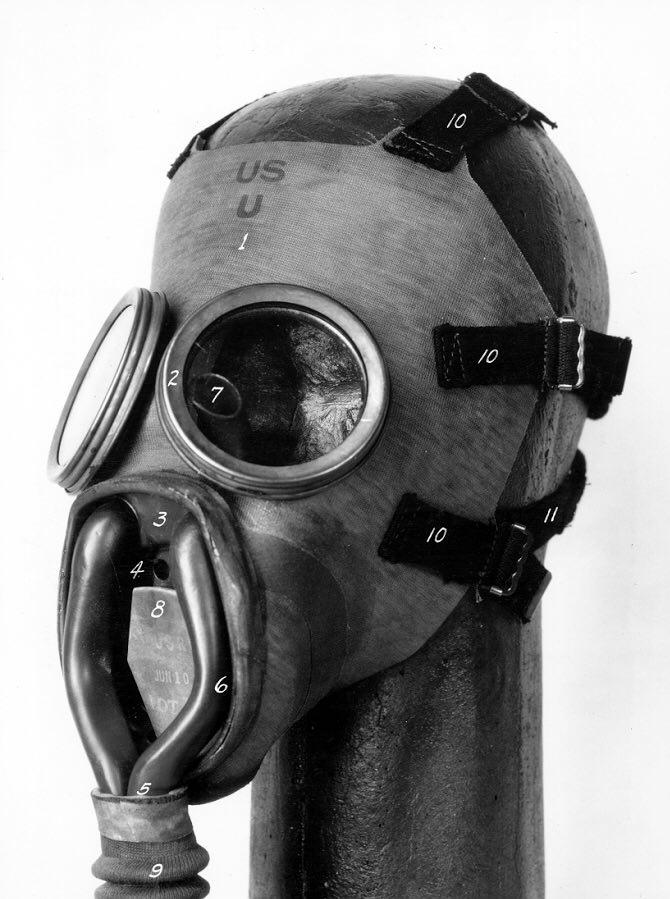 MII diaphragm gas mask