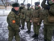 Russian Soldiers Wearing PMK-1 Gas Masks