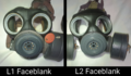L1 & L2 LAG Faceblank Comparison on LAG Mk II masks