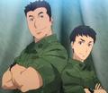 Sergeants Wataru Katsumoto and Takeo Kurata Anime Season 1 introduction