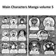 Main Characters Manga volume 5