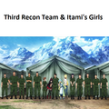 Third Recon Team and Itami girls from introductory song Season 1 Anime
