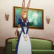 Mamina ears erect hearing Itami's men breaking in Anime episode 7