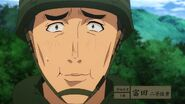 Akira Tomita tries his best not to laugh at Itami's new outfit - GATE JSDF - anime series