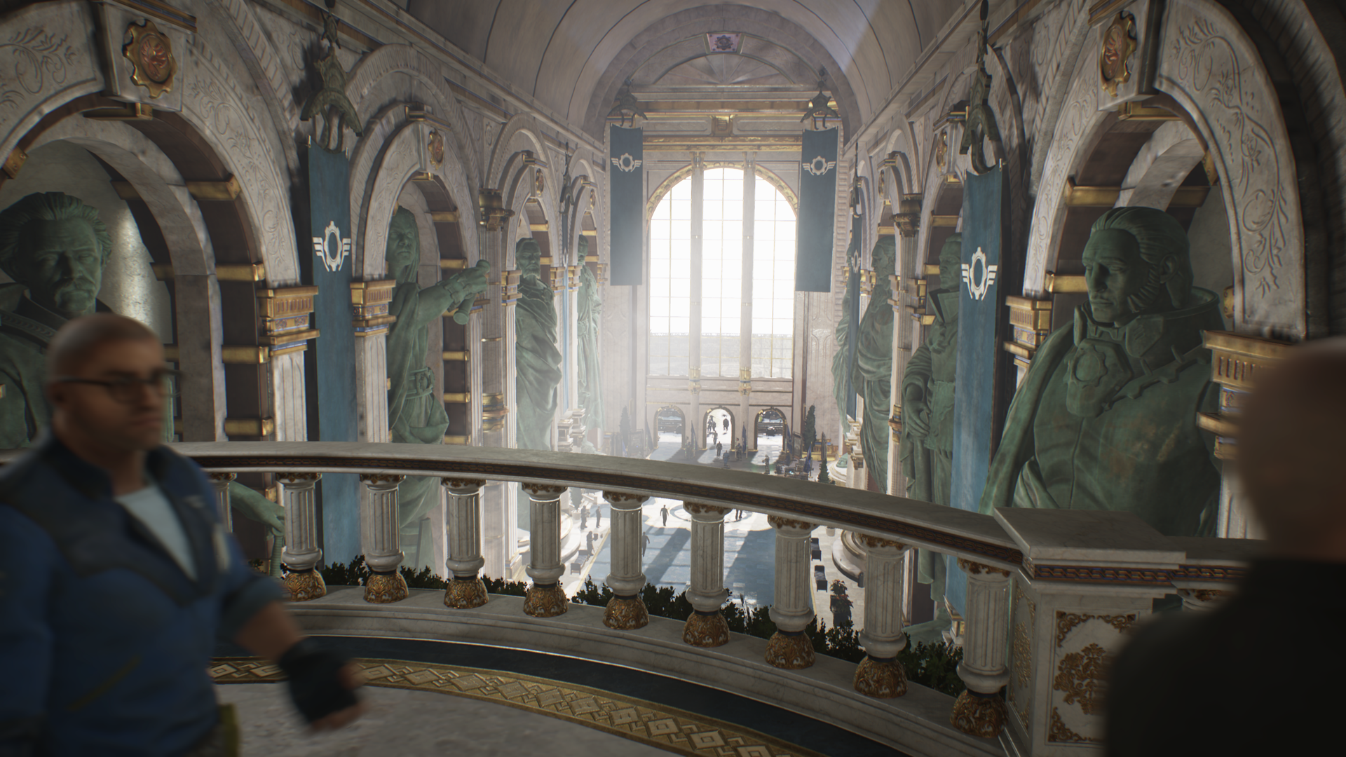 Gears 5 Government House Allfather statues.png
