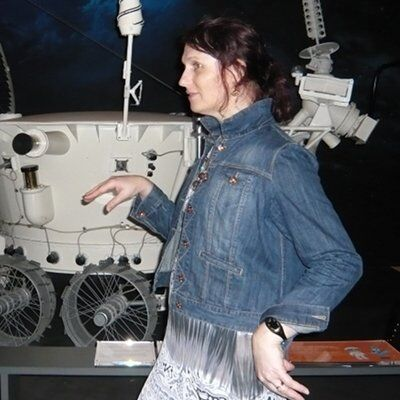 Walking like an egyptian in front of a moon rover