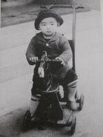 Shigeru Mizuki at age 3
