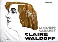 Jo Steiner, (1877-1935) - manifesto per cabaret di Claire Waldoff, Berlino 1914