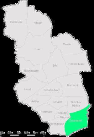 Die Stadtteile Gelsenkirchens mit Ückendorf im Südosten