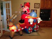 Gemmy inflatable santa wester coach scene