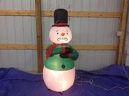 Gemmy animated inflatable shivering snowman