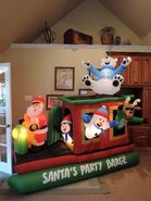 Gemmy inflatable Santa's Party Barge
