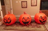 Gemmy Prototype Halloween Pumpkins Inflatable Airblown