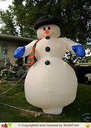 Gemmy inflatable classic snowman