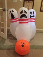 Gemmy inflatable Halloween bowling scene