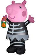 Airblown Inflatable Peppa Pig in skeleton costume