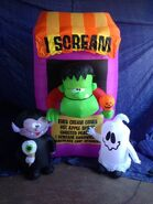 Gemmy inflatable I SCREAM stand