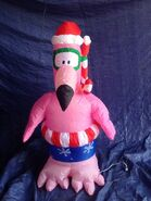 Gemmy inflatable snorkaling flamingo