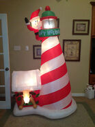 Gemmy inflatable santa in lighthouse