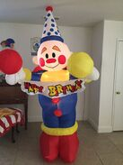 Gemmy Airblown Inflatable Birthday Party Clown 8 Ft Tall L@@k At Pics 2002