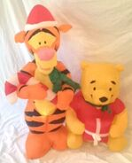 Gemmy inflatable Christmas pooh and tigger scene