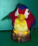 RARE AND UNUSUAL Gemmy animated talking parrot bird on stump 4