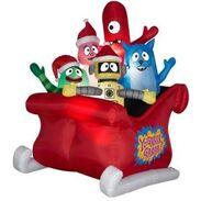 Airblown Inflatable Yo Gabba Gabba Christmas Scene