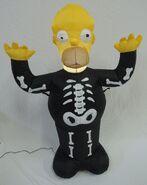 Gemmy inflatable Homer simpson skeleton