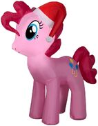 Airblown inflatable Pinkie Pie with Santa hat
