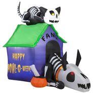 Gemmy 2016 inflatable-Halloween Skeleton Doghouse