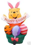 EASTER 6FT AIRBLOWN INFLATABLE POOH BUNNY BASKET