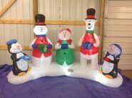 Gemmy inflatable christmas carolers scene