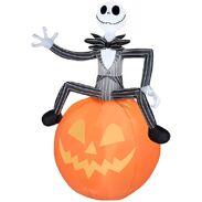 Airblown Inflatable Jack Skellington on pumpkin