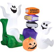 5' Long x 4.5' Tall Telling Ghostly Stories Halloween Airblown Inflatable