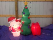 Gemmy inflatable Hello kitty with christmas tree scene