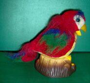 RARE AND UNUSUAL Gemmy animated talking parrot bird on stump