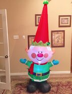 Gemmy Prototype Christmas Elf Inflatable Airblown