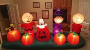 Gemmy Prototype Halloween Peanuts Scene Inflatable Airblown