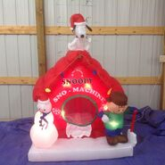 Gemmy inflatable snoopy's snow machine