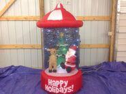 Gemmy inflatable sparke dome santa and reindeer