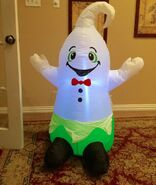 Gemmy Prototype Halloween Friendly Ghost Inflatable Airblown