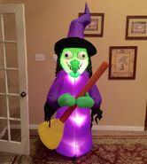 Gemmy Prototype Halloween Witch Inflatable Airblown