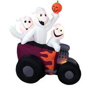Gemmy inflatable ghost trio in hot rod