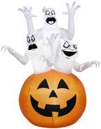 6' Ghost Trio Halloween Decoration