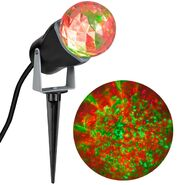 Outdoor Kaleidoscope Spotlight - Red Green
