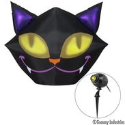 4 ft. Halloween Airblown Smiling Cat with Eyes Projector Included