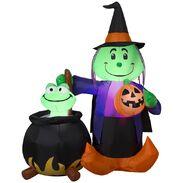 Airblown® Witch and Cauldron Scene