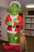 Gemmy inflatable grinch with max
